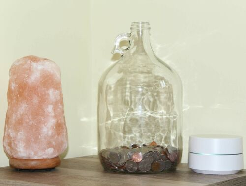 Skywin Swear Jar Large Glass Money Jar and Adult Piggy Bank for Storing Coi...