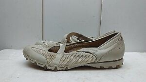 Details about Skechers Size 11 M 41 Tan Leather Mary Jane Athletic Sneaker Walking Shoes Women