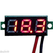 Voltmètre testeur 3 chiffres rouge DC 3,2-30 V Digital Red LCD voltmeter 3 digit