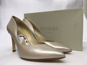 Court Various Leather Hobbs £139 Pale Neutral Alexa Metallic Sizes Shoes Rrp q116f