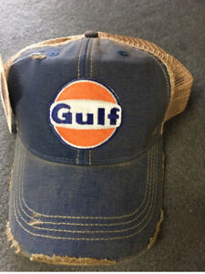4f767373925fa Image is loading Distressed-Gulf-Trucker-Cap-Vintage-Look-Trendy-Vintage-