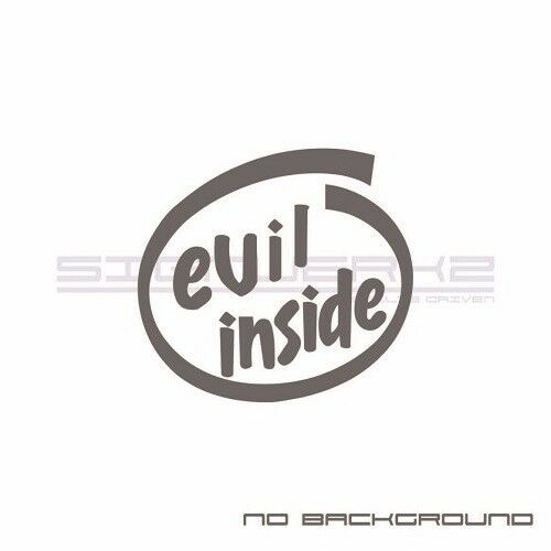 evil inside Decal intel Sticker Euro Racing JCW mod illest JDM turbo psi pair