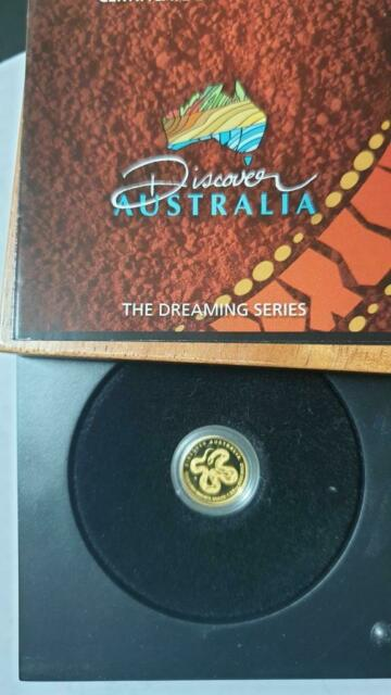 2009 Discover Australia G$5 King Brown Snake 1/25oz Gold Proof Coin /w OGP