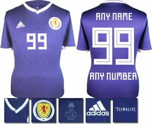 0a11b3ac2792 Image is loading PERSONALISED-SCOTLAND-HOME-2018-ADIDAS-SHIRT-SS-KIDS