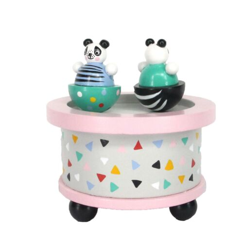 Panda Spinning Chidrens Music Box By Gisela Graham