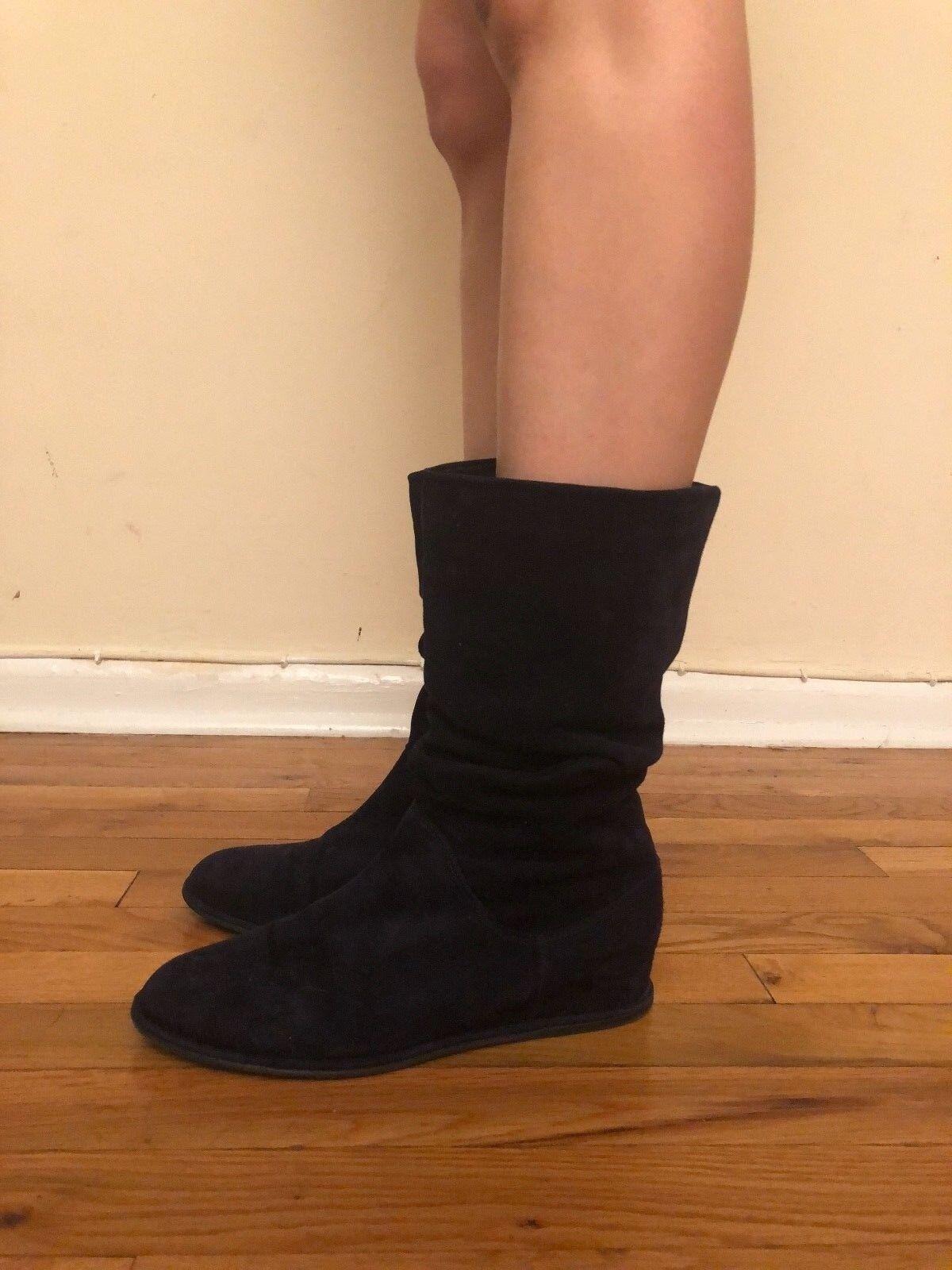 Stuart Weitzman Boots Size 38.5 Dark bluee Suede