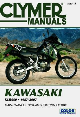 Clymer Workshop Manual Kawasaki KLR650 1987-2007 Service Repair