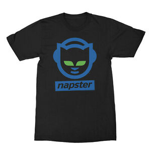 Napster-Colored-Logo-With-Name-Adult-T-Shirt