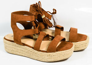 1544201e968 Image is loading Just-Fab-Gladiator-Espadrille-Strappy-Ankle-90s-Platform-