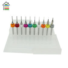 10x 0.1mm - 1mm Carbide PCB Dremel Jewelry CNC Engraving Micro Drill Bits Set