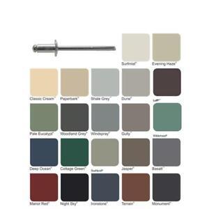 COLORBOND-Dome-Pop-Rivets-Painted-dia-5-32-034-4mm-x-11-4mm-long