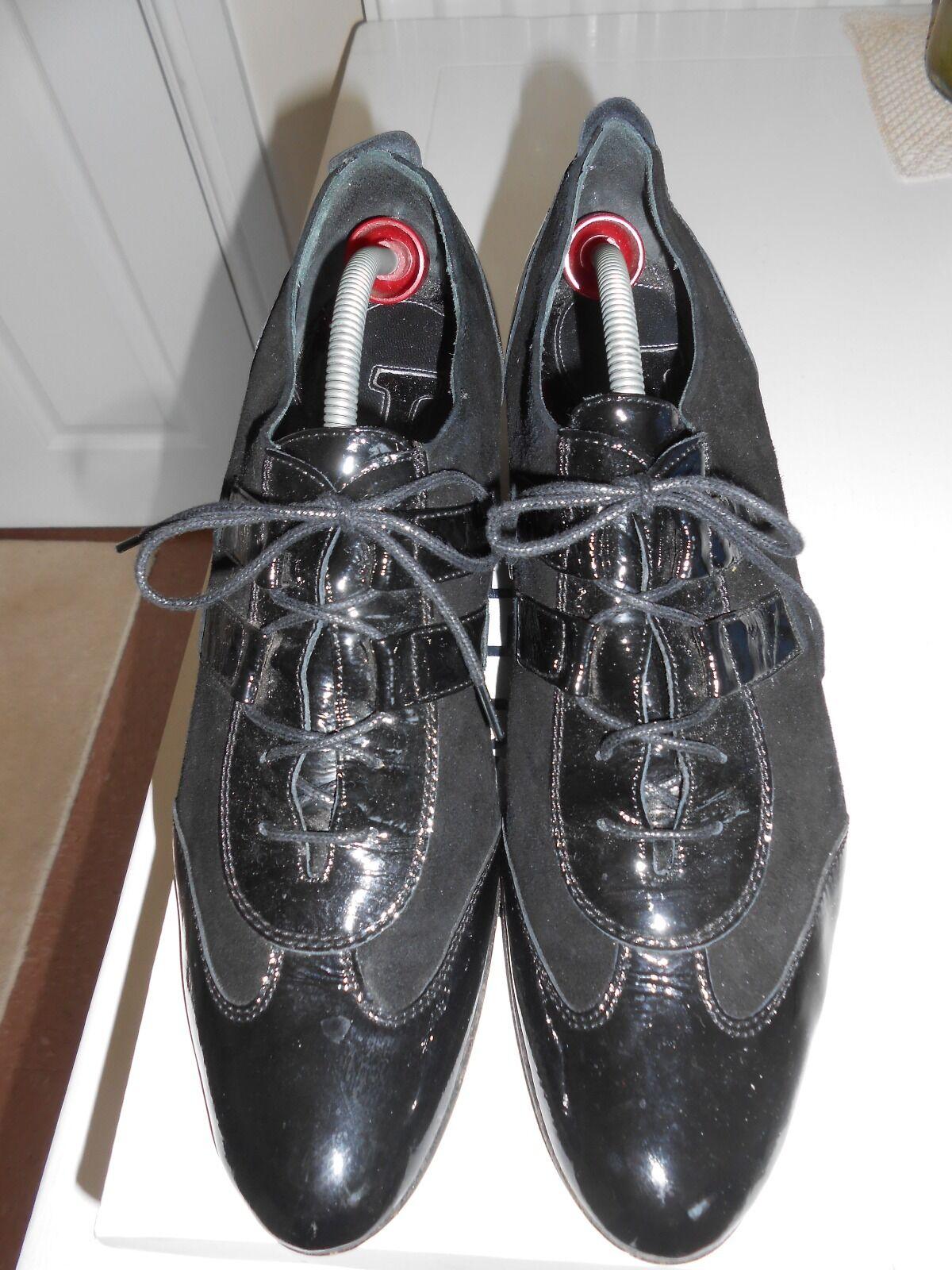 GIADA GABRIELLI italiano brevetti e in pelle scamosciata Lace-Up Scarpe, taglia 6