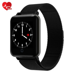 OLED Bluetooth Magnetverschluss Smart Watch Pulsuhr Armband Fitness Uhr DHL