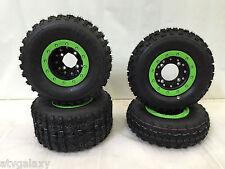 Hiper CF1 Beadlock Wheels STI Tech 4 Tires Front/Rear Kit Kawasaki KFX450R KFX40
