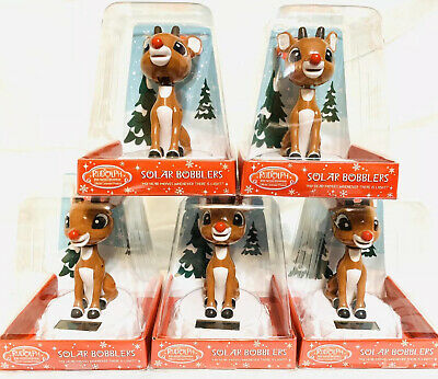 RUDOLPH Solar Bobblehead Island Misfit Toys Red Nosed Reindeer Christmas Figure