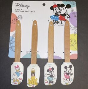 DISNEY MICkey Mouse And Friends Spring 4 PACK SILICONE Mini SPATULA SET New