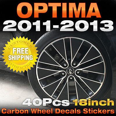 "Carbon Black Spoke Wheel Vinyl Decal Sticker 18/"" 48Pcs for KIA 2011-13 Optima K5"