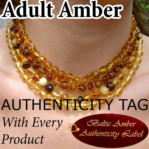 Authentic BALTIC AMBER ADULT NECKLACE natural