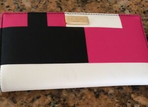 NEW-Kate-Spade-Shore-Street-Womens-Wallet-Pink-white-black-leather-color-choose