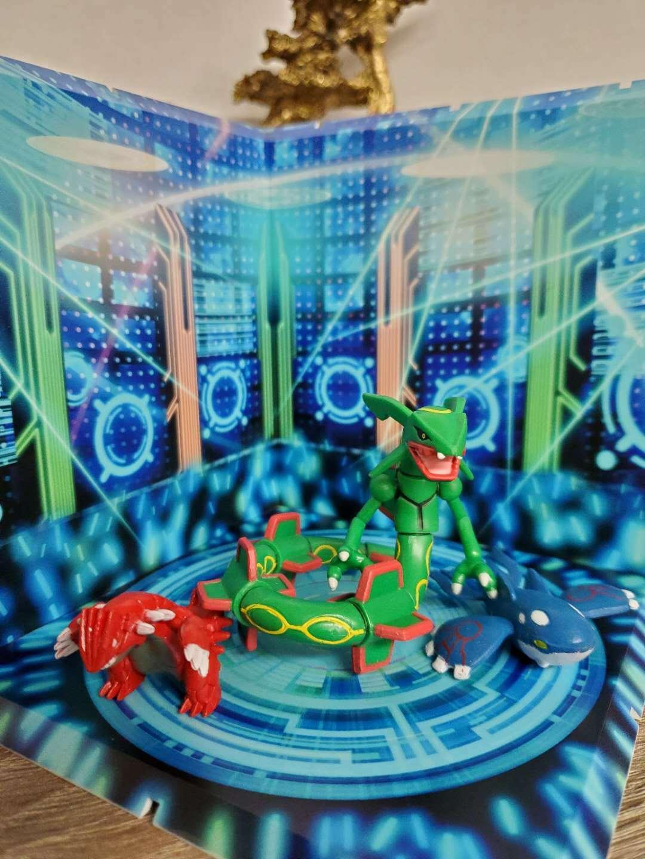 pokemon figures lot set of 3 Rayquaza Groudon Kyogre 1-2.5 inches christmas gift