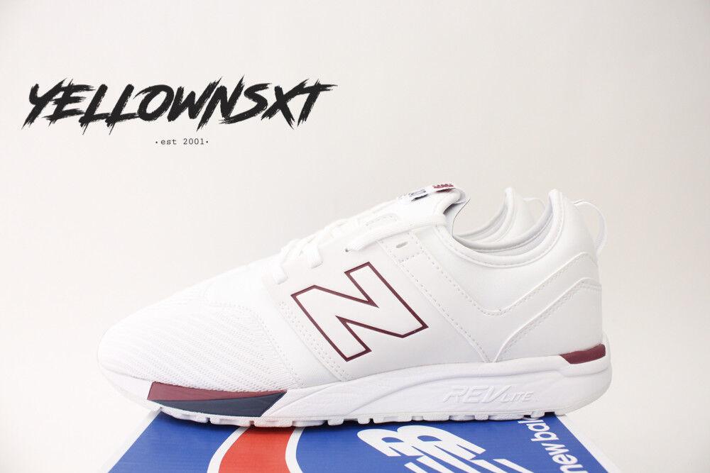 new weißen balance 247 sz 13 weißen new burgunder rot - blau laufschuhe mrl247tr bbe395