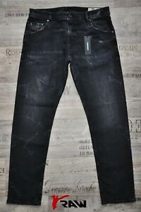 DIESEL-KRAYVER-R670C-L-32-SLIM-CARROT-NEW-MAN-MENS-JEANS-DISTRESSED-BLACK-GREY