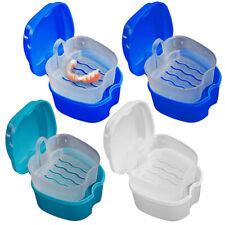 Denture Box Bath Case Cup Box Holder Mouth Guard Dental Storage Soak Container
