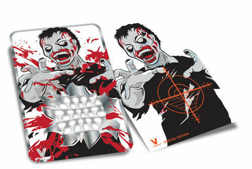 Syndicate Bloody Zombie Grinder Card Scope Aim Shooting Pocket Wallet Size V