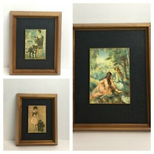 Vintage-60-039-s-70-039-s-MID-Century-Picasso-Boy-Girl-Women-3-Piece-set-Wall-Art-Print