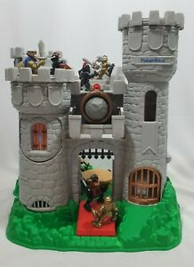 Vintage-1994-Fisher-Price-Great-Adventures-Medieval-Castle-Playset-Knights-7110