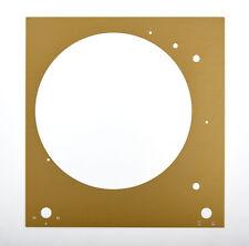 Thorens Plaque Supérieure La platine du frontale TD 150 doré brillant anodisé
