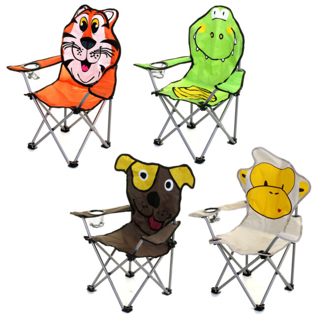 Stupendous Kids Childrens Folding Chair Portable Camping Garden Beach Fishing Picnic Animal Theyellowbook Wood Chair Design Ideas Theyellowbookinfo