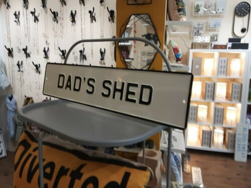 Dad/'s cobertizo Esmaltada signo