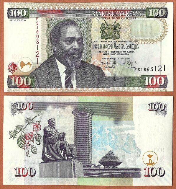 2010 P-48e Unc Kenya 100 Shillings