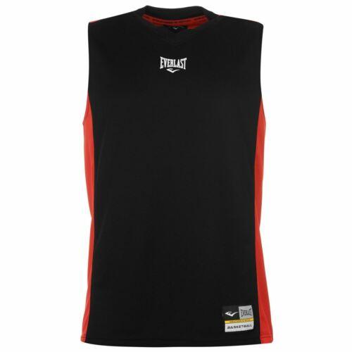 Everlast Basketball Jersey Mens Black//Red Singlet Tops Vest Small