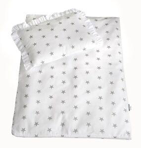 4 Tlg Set Bezug Fur Kinderwagen Garnitur Bettwasche Decke Kissen