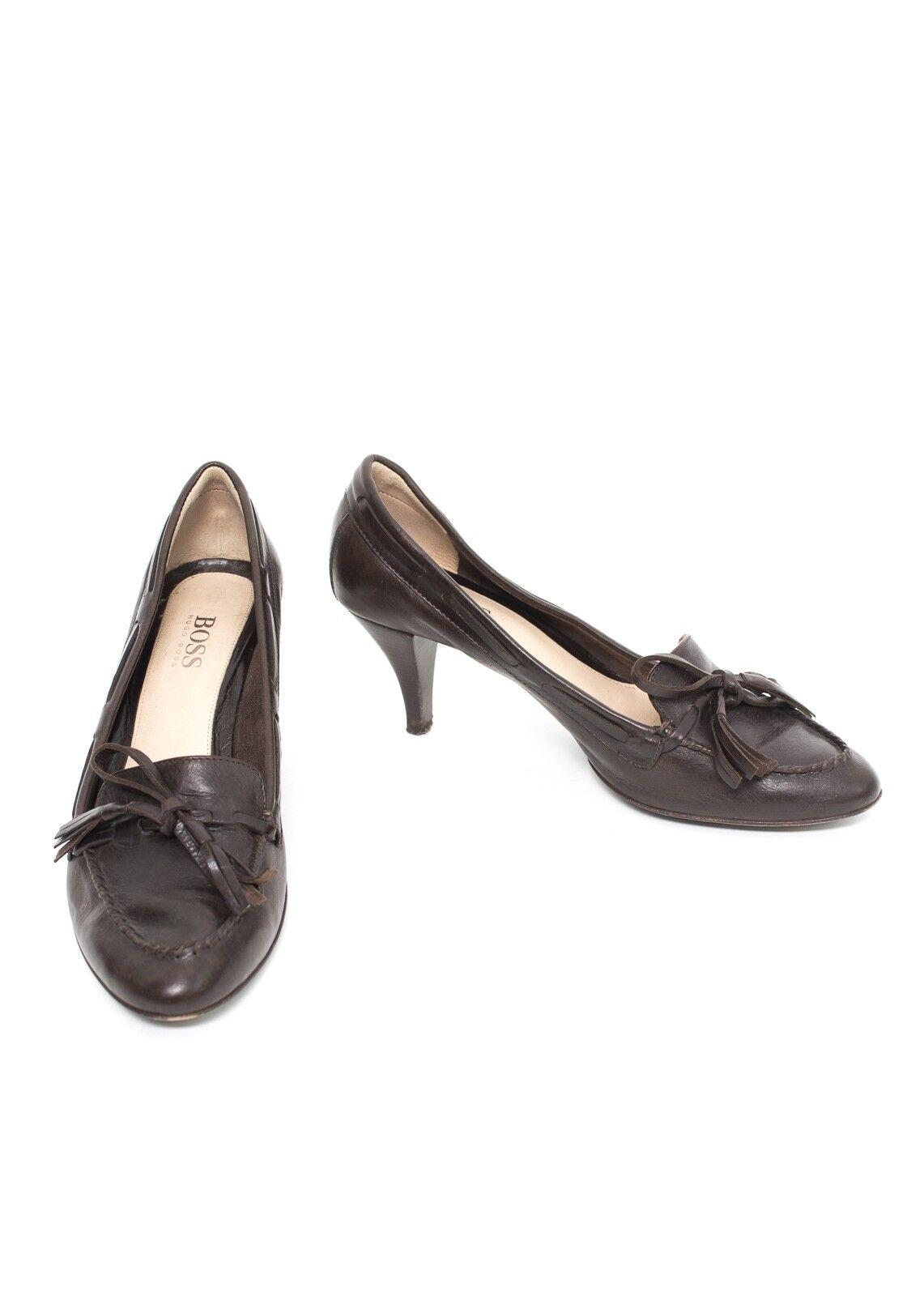 ecco l'ultimo Hugo BOSS Décolleté Mis. EU 37,5 Scarpe da donna tacco tacco tacco alto scarpe Marronee PELLE  economico e di alta qualità