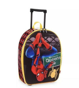 New Marvel Disney Store Spider Man Rolling Luggage