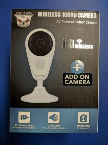 Night Owl Security Add-On Indoor Wireless 1080P AC Powered Camera Brand New