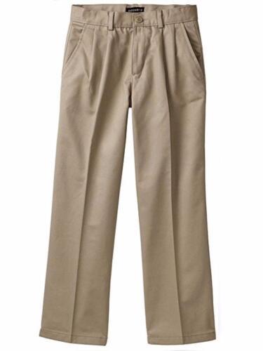 Dockers $34 Pleated Classic Fit Adjustable Waist Pants Khaki Big Boys 18 or 20