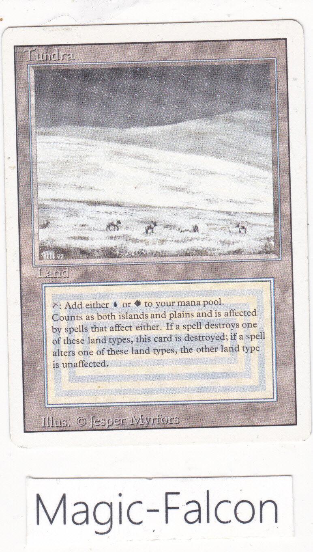 X1 carte Dual land Tundra REVISED REVISED REVISED ENGLISH (1994) EX-NM MAGIC MTG      old school d8bd86