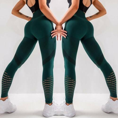 Women Seamless High Waist Gym Leggings Fitness Sport Jogging Yoga Pants Trousers