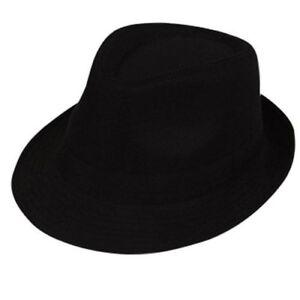 951cb07cfa3 20s 1920s Classic Fedora Fancy Dress Hat Durable Gangster hat Black ...