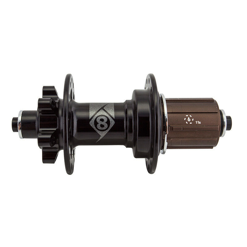 Origin - 8 CX GX-1110 Elite Cruz Rear Hub QR 6b 28x135 11s cassshi sb BK noskewer