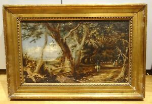 19th-Century-English-Country-Path-Landscape-John-CONSTABLE-Antique-Oil-Painting