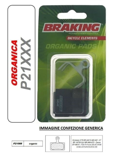 BRAKING Pastilla de Freno Orgánica MTB a la Mountain Shimano XTR BR-M978