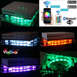 Wifi-RGB-LED-USB-Design-Kuehler-Luefter-Fan-Staender-Xbox-One-X-S-Scorpio-Live