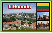 LITHUANIA - SOUVENIR NOVELTY FRIDGE MAGNET - BRAND NEW - GIFT