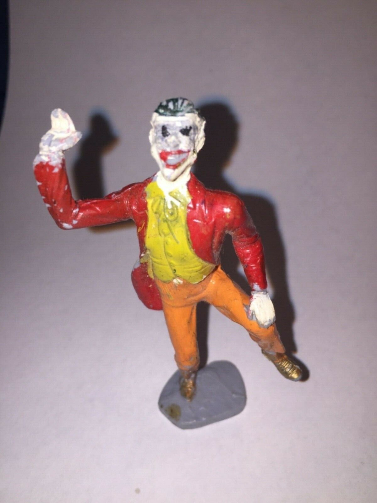 Ideal Plastic Corp. 1966  The Joker  Soft Plastic 60mm Figure Hand Painted Batma