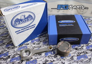 Details about Supertech Pistons Eagle Rods Honda Acura K24 Block / K20 Head  87 5mm 11 5:1 Comp